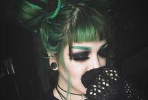 Goth hair style