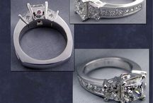 Princess Cut Engagement Rings / Princess cut diamond engagement rings and wedding rings at Images Jewelers.