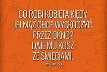 Dowcipy, kawały o małżeństwie, kobietach, mężczyznach / Jokes about marriage, women, men / Portal Weselnapolska.pl humor, dowcipy, zabawne teksty humor żona mąż małżeństwo haha heheszki teksty