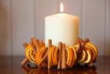 Tablescape | autumn / Autumnal leaves and candles flickering, DIY craft and inspiration.