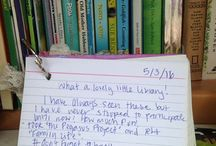 Little Free Library Steward Crafts & Ideas! / Share your favorite bookmark designs, guest books, creative ways to decorate your Library, DIY ideas and more - only for registered stewards!
