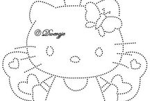 borudren op kaart hello kitty