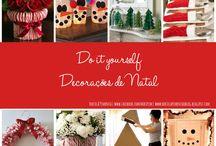 Enfeites de Natal giros, fáceis e baratos! Dicas e DIY, Natal. enfeites de natal