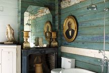 Bathrooms - Old Style Charm / Bathrooms with old style, country, vintage, rustic charm.
