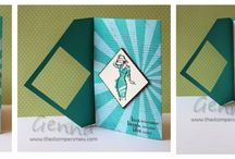 Stampin Up Fancy Fold Cards
