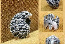 Eagle Silver Ring, Eagle Men Ring, King of birds ring, Mens Eagle head ring,Wrap Ring, Bird Wings Ring