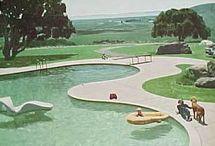 Mid century modern landscape