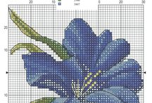 Cross stitch flowers