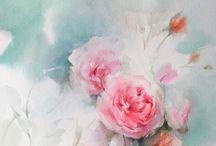 Blomme - verf