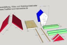 Sketchup-Projekte / Tipps und Zeichnungen zu Sketchup. Möbel, Holzkonstruktionen, Projekte, Bauanleitungen mit Sketchup Zeichnung zum Download