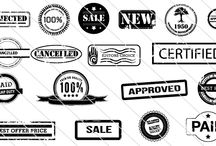 Quality Vector Stamps / A Premium Quality Vector stamps with different variety Which can be used on print and web projects. These stamps can be used as brushes and make things easier.