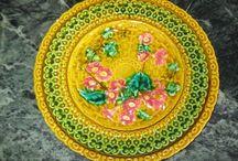 Villeroy majolika tányérok
