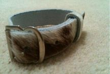 Leather accessories / Simple,  cow leather bracelet