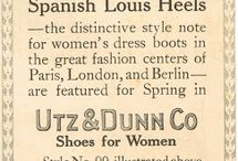 /Key events of influence in the 20th century/ / From flapper heels of the 20's, to classic black 50's loafers, to the colour and height of the 60's and 70's, to 80's and 90's platforms, fashionable footwear evolved a lot during the 20th Century. This was influenced by both World Wars, which forced people to be thrifty, and directly after, lavish, in their spending habits. Space travel allowed designers to let their imaginations run wild with colours and bold patterns. Celebrities influenced fashion through the 70's, 80's and 90's, as well.