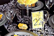 Black, White & Yellow Wedding Decor