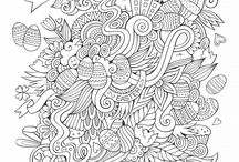 Easter coloring pages / Discover our Easter coloring pages for grown ups and adults, from our website www.coloring-pages-adults.com