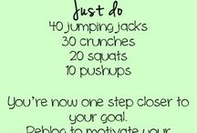 Exercise tips & healthy food   / Motivational quotes, super foods & exercise tips all on one board