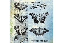 Sélection de tampons (stamps scrapbooking)