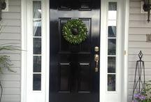 House Paint ideas - Black front doors / Front doors