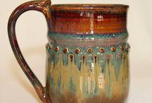 Pottery Mugs / A selection of handmade pottery/ceramic mugs