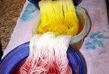 fabric, dye