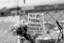 11-Madrid no os olvidamos / Sin olvidar Santa Eugenia ni el Pozo ni Atocha, el vello del alma sigue de punta, cuando estallan en mis sueños los trenes de cercanías, las vías del desconsuelo... -Joaquin Sabina, pregón de San Isidro 2005-  ...y en ese tren ibamos todos...