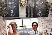 Weddings backdrop