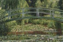 Japanese Gardens in Western Art / Classic and contemporary artwork by Western artists that feature scenery, elements and design principles (e.g. use of asymmetry) associated with or influenced by the Japanese garden.