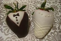 Chocolate Covered Strawberries and Strawberry Art