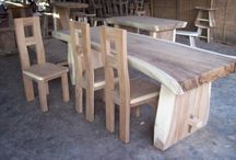 jati wood table original from indonesia / Available on many diameters