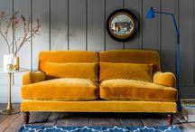 sofa żółta
