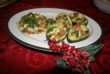 Luviano Sister's Posada Dish, Pico de gallo stuffed Avocados from Mexcio #ILoveavocados / by Tania Luviano