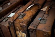 old trunk and suitcase