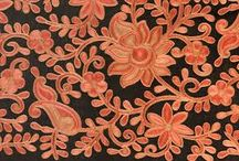 Indian chain stitch embroidery
