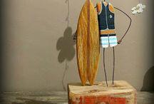 Dekorácia z dreva a drotu