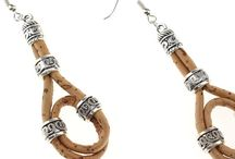 Women Earrings / Cork earrings for women made of light-weight and durable natural cork material