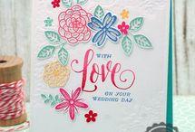 card;  flower&