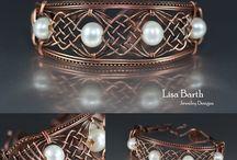 Wire wrapped    ( bracelets )