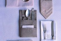 Napkin & placecard styling