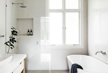 Simple Bathrooms / Lovely places to get clean.
