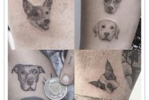 Snall Tattoo Portrait Dog
