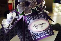 MY STAMPIN UP BOX CARDS / by Barbara Charles