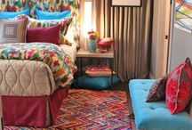 U-Fabulous Rooms: Artistic Ambiance / U-Fab's 2014 Richmond Symphony Orchestra League Designer House Room. Inspired by street art, with a sophisticated twist. A rainbow of colors featuring shades of maroon, hot pink and bright turquoise are set on a dreamy grey back drop.