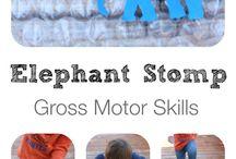 Gross Motor Activities for Kids / Gross motor activities and ideas for kids, including vestibular and proprioceptive sensory activities for kids