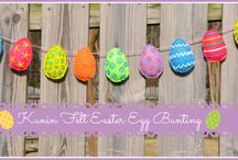 Kunin Felt Spring Crafts / DIY Bunnies, eggs, wreaths and pretty spring things.