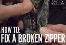 Vetoketjujen korjaus / Ideoita ja vinkkejä rikkinäisten vetskarien korjaamiseen Ideas and hints to repair zippers