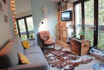 Appartement Gambetta * Interior Design / Trasformation d'un appartement parisien de 42m² en un confortable et contemporain deux pièces.