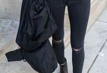 czarne spodnie / moda