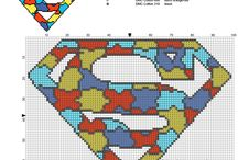 Superheroes free cross stitch patterns download made with PcStitch / Superheroes free cross stitch patterns download made with PcStitch