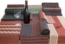 Table mat sets from GreenEarth / Natural fibre tablemat sets. All the mats and runners are specially designed, and handwoven by traditional reed weavers.